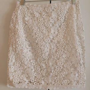 Isabel Marant Etoile white lace mini cotton skirt